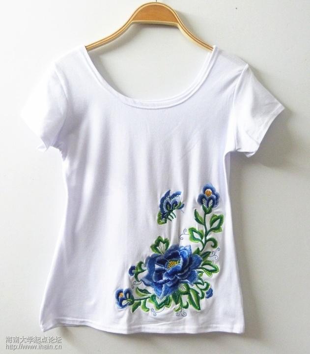 中国风刺绣T恤包臀裙短裤